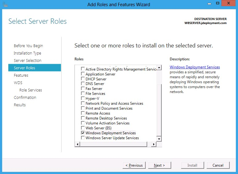 Windows 8 Server: Adding Roles | JDeployment