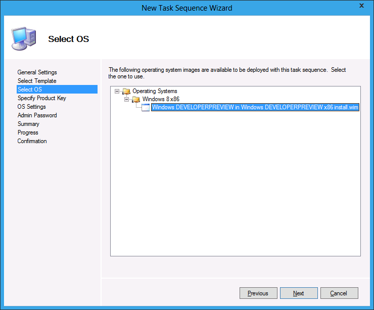Deploy Windows 8 with MDT 2012: Create New Task Sequence and