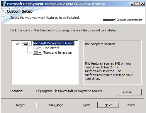 Microsoft Deployment Toolkit (MDT) 2012 Beta 2 – Now