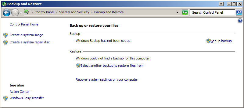 how to create a system image on windows 7