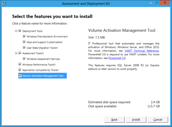 Windows Assessment and Deployment Kit (ADK) Installation