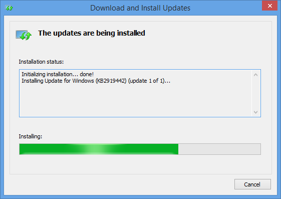 How to manually update Win 8 1, Win Server 2012 R2 and Win