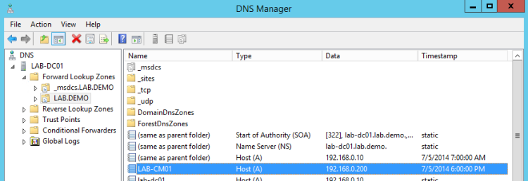 SCCM-DNS-related