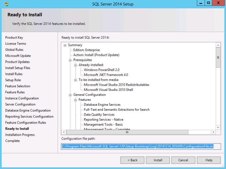 Generating SQL ConfigurationFile
