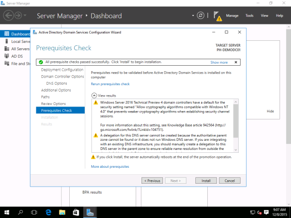 Active Directory Setup Guide on Windows Server 2016