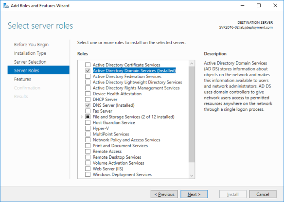 Upgrade Active Directory Server 2016 from Server 2012 R2