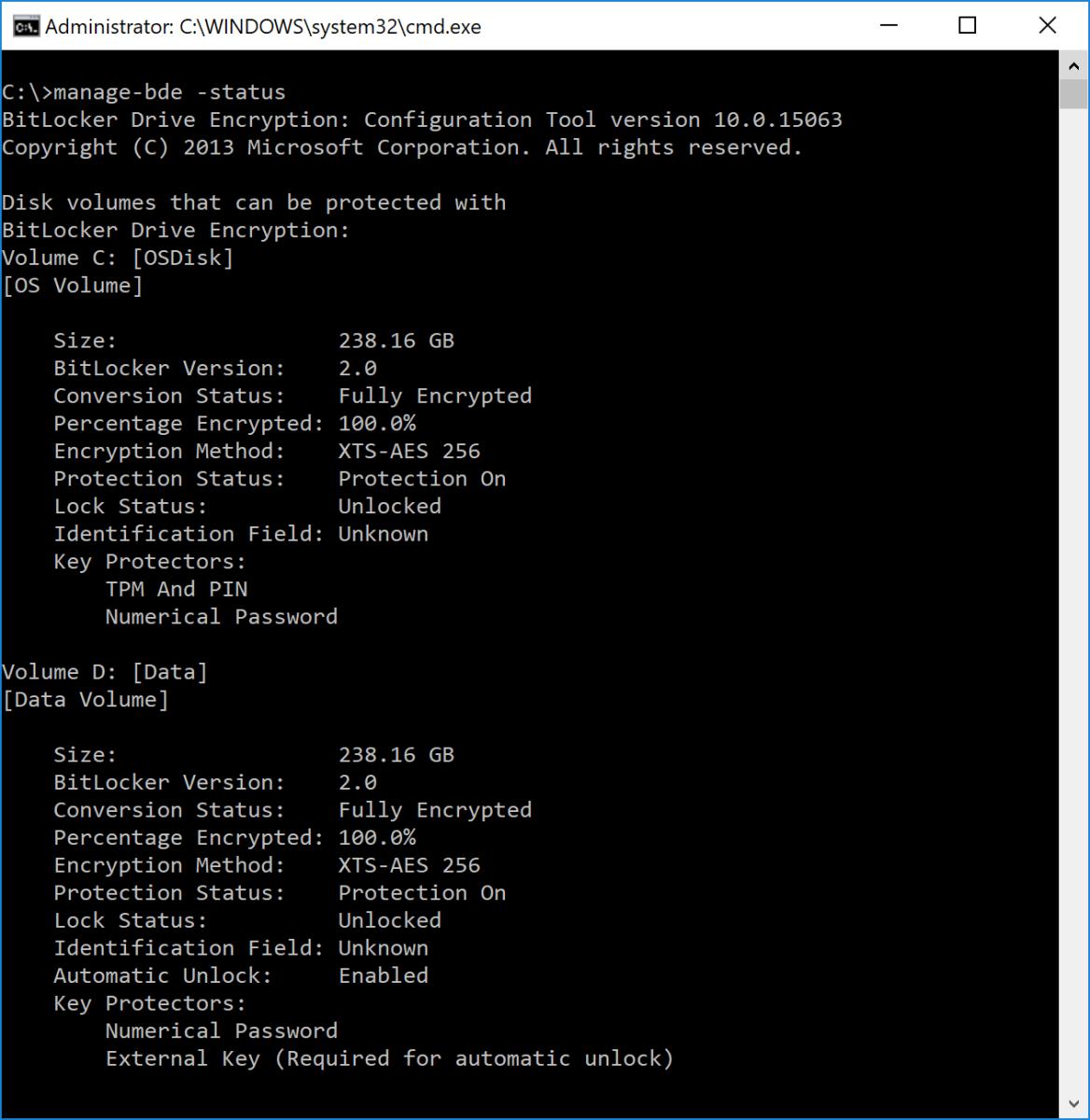 Windows 10 OSD: Enabling BitLocker XTS-AES 256 on Multiple Drives