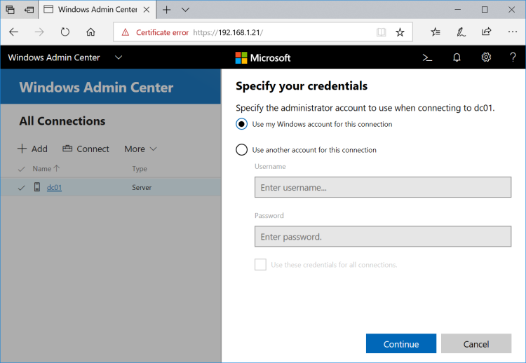 Windows Admin Center | JDeployment